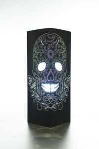 W-LAMP - flower skull - Lampe � Poser