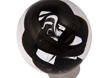 Les Verreries De Brehat - tubes de bulles sphérique noir - Bouton De Porte