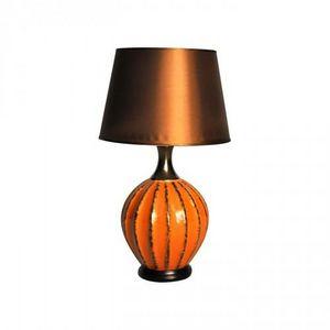 Demeure et Jardin - lampe boule orange - Lampe � Poser