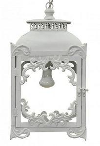 Demeure et Jardin - lanterne fer forg� blanche - Lanterne D'ext�rieur