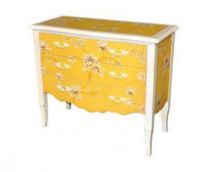 Demeure et Jardin - commode jaune fleurie - Commode