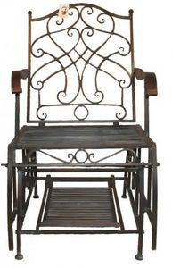 Demeure et Jardin - fauteuil rocking chair en fer forgé vert de gris - Fauteuil De Jardin