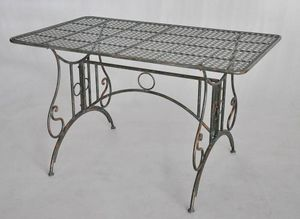 Demeure et Jardin - table rectangulaire vert de gris - Table De Jardin