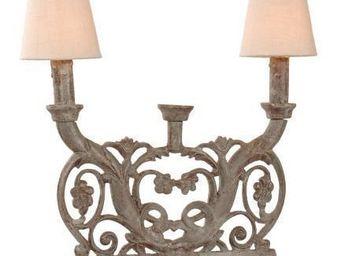 Coquecigrues - lampe serpentine en mã©tal zinc sablã© - Lampe À Poser