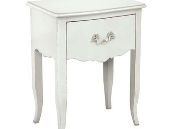 Interior's - chevet blanc polaire - Table De Chevet