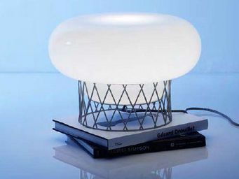 Forestier - lampe blow gris clair - Lampe À Poser