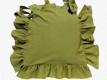Interior's - galette de chaise verte topiaire - Galette De Chaise