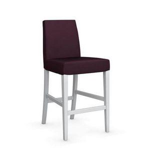 Calligaris - chaise de bar latina de calligaris aubergine et hê - Chaise Haute De Bar