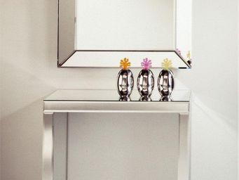 WHITE LABEL - keops ensemble console et miroir petits modèles to - Console