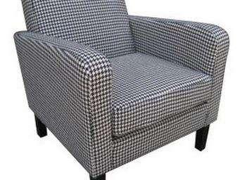 WHITE LABEL - petit fauteuil elegance vichy. - Fauteuil
