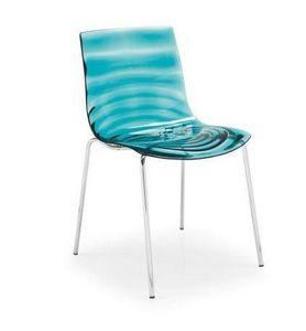 Calligaris - chaise design l'eau vert d'eau de calligaris - Chaise