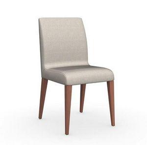 Calligaris - chaise eudora en hêtre et tissu coloris écru de ca - Chaise