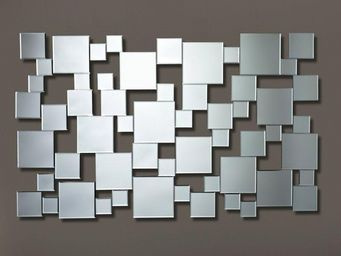 WHITE LABEL - gizeh miroir mural design multi-carreaux - Miroir