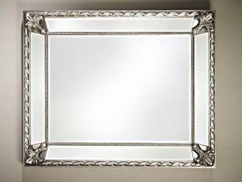 WHITE LABEL - fluide miroir mural design argent - Miroir