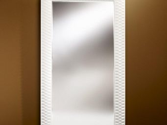 WHITE LABEL - hall grand miroir mural finition blanche - Miroir