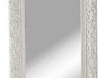 WHITE LABEL - miroir opulence blanc design - Miroir