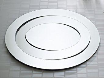WHITE LABEL - rings miroir mural design en verre - Miroir