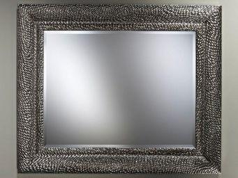WHITE LABEL - sherwood miroir mural design en verre argent - Miroir