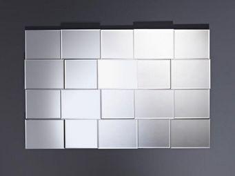 WHITE LABEL - sidewalk miroir mural design en verre - Miroir