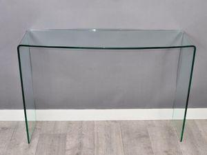 WHITE LABEL - console compact en verre versa - Console