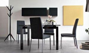 Calligaris - table repas extensible airport 130x90 noire de cal - Table De Repas Rectangulaire