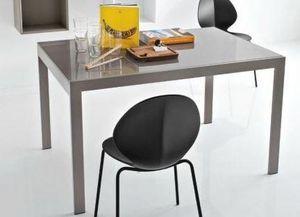 Calligaris - table repas extensible key 130x89 en verre couleur - Table De Repas Rectangulaire
