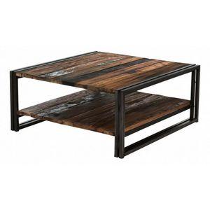 DECO PRIVE - réf : sam-tbc80/2p - Table Basse Carrée