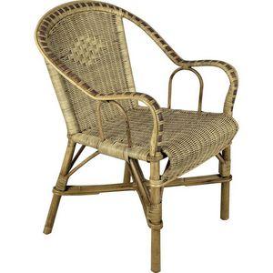 Aubry-Gaspard - fauteuil en manau et rotin - Fauteuil De Jardin