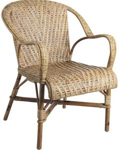 Aubry-Gaspard - fauteuil rotin ancien - Fauteuil De Jardin