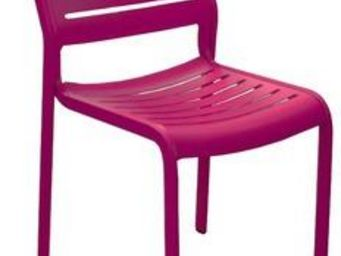 PROLOISIRS - chaise de jardin design belhara (prune) - Chaise De Jardin