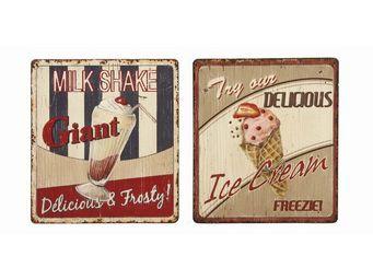 Interior's - enseigne publicité milk/ice cream - Tableau Décoratif