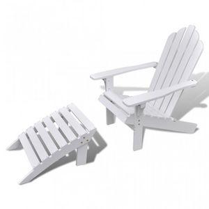 WHITE LABEL - chaise à bascule jardin avec repose pieds - Fauteuil De Jardin