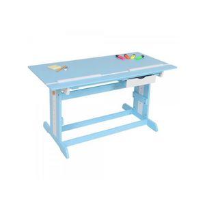 WHITE LABEL - bureau enfant meuble chambre bleu - Bureau Enfant