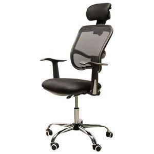 WHITE LABEL - chaise de bureau ergonomique respirant - Fauteuil De Bureau