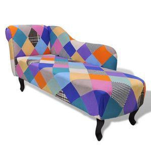 WHITE LABEL - fauteuil canapé méridienne coloré - Méridienne