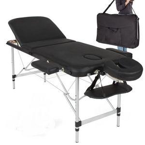 WHITE LABEL - table de massage pliable rembourrage épais - Table De Massage