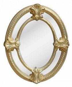 Demeure et Jardin - miroir ovale � pareclose style napol�on iii - Miroir