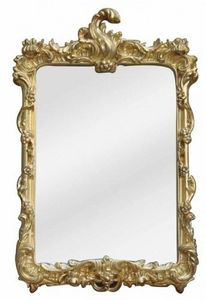 Demeure et Jardin - miroir baroque à coquille doré petit modèle - Miroir