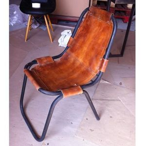 Mathi Design - chaise cuir savane - Chaise