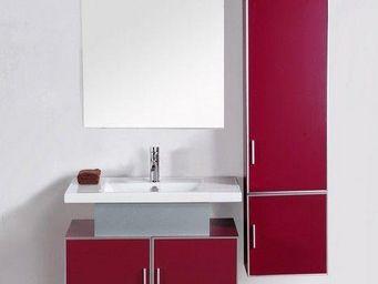 UsiRama.com - meuble salle de bain hot-rose 80cm - Meuble De Salle De Bains