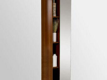 UsiRama.com - colonne salle de bain design avec miroir 1.7m - Colonne De Rangement Simple De Salle De Bains