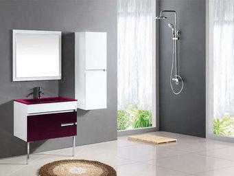 UsiRama.com - meuble salle de bain design clavier laqué violet - Meuble De Salle De Bains