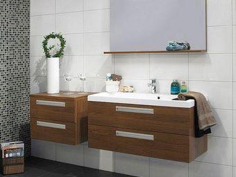 UsiRama.com - meuble sdb 100cm fonctionnel design mousse cafe - Meuble Vasque