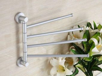 UsiRama.com - porte serviette alu à 4 barre mobile clipper - Porte Serviettes