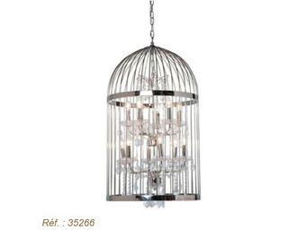 Kare Design - lustre cage chandelier chrome dia - Suspension