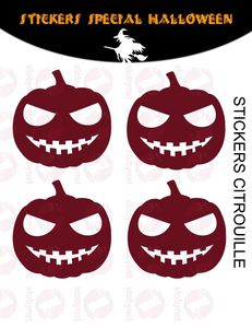 WHITE LABEL - sticker citrouilles - Sticker