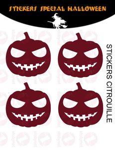 WHITE LABEL - sticker citrouilles - Sticker