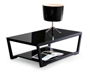 Calligaris - table basse element de calligaris en verre - Table Basse Rectangulaire