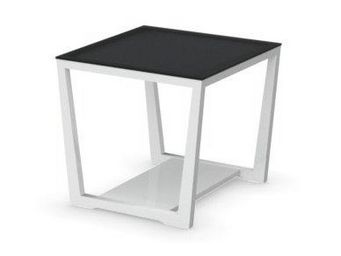 WHITE LABEL - table basse element de calligaris blanche avec pla - Table Basse Carrée
