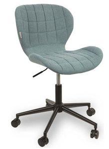 WHITE LABEL - chaise de bureau zuiver omg bleu avec piétement no - Chaise